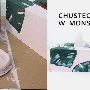 Chustecznik w monstery pomalowany Chalk Paint Annie Sloan