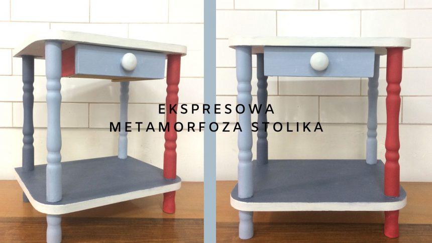 Ekspresowa metamorfoza stolika / Louis Blue, Old Violet, Emperor's Silk, Old White
