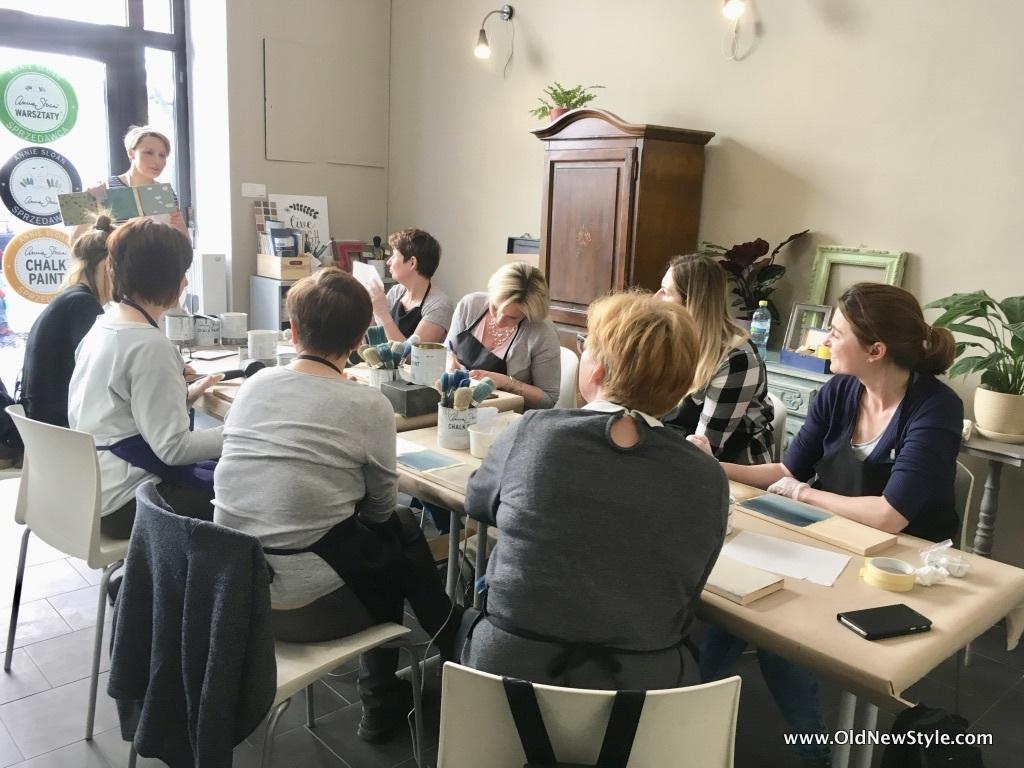 Warsztaty 8 technik malowania farbami Annie Sloan