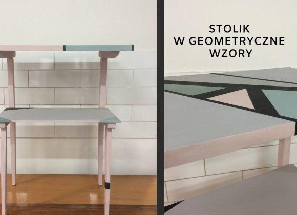Stolik w geometryczne wzory / Chicago Grey, Svenska Blue